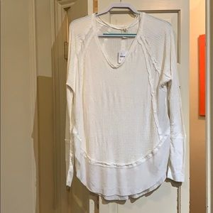 NWT free people long sleeve top off white